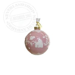 Pink/White  Ceramic Ornament - Sleeping Beauty