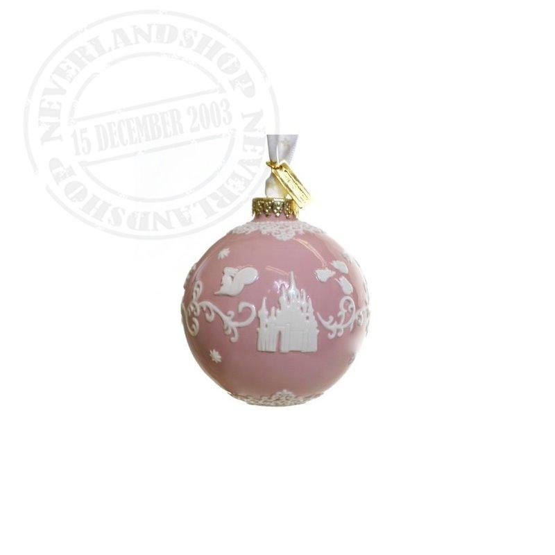 Pink/White  Ceramic Ornament - Sleeping Beauty
