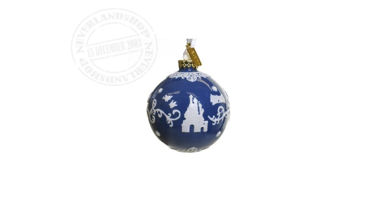 DBlue/White Ceramic Ornament - Snow White