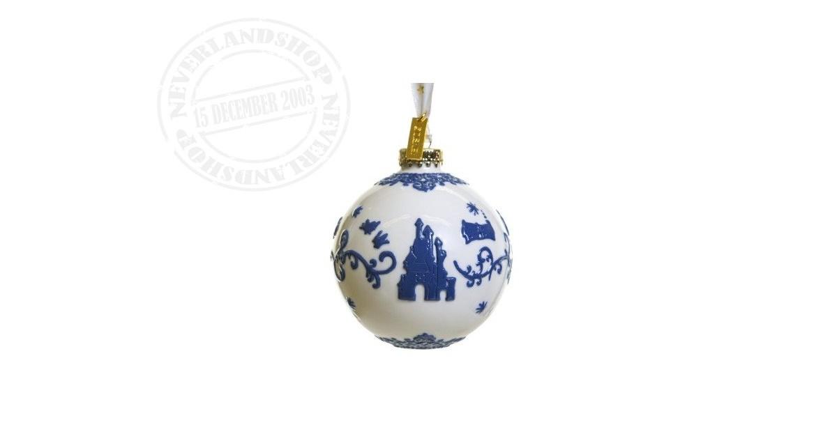 White/DBlue Ceramic Ornament - Snow White