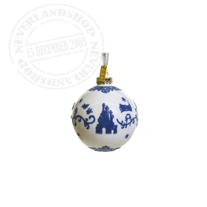 White/DBlue Ceramic Ornament - Snow White