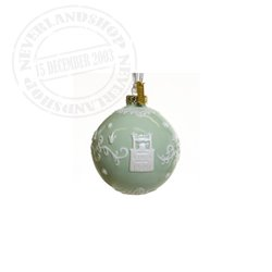 Green/White Ceramic Ornament - Princess & the Frog