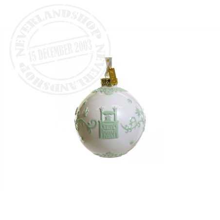 White/Green Ceramic Ornament - Princess & the Frog