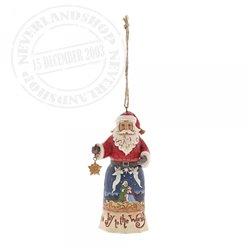 Joy to the World Santa (Hanging ornament) - 6001504