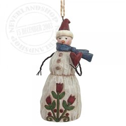 Folklore Snowman With Heart (Hanging ornament) - 4058773