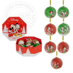 7 Shatterproof Ornaments - Mickey & Minnie