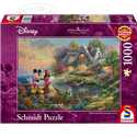 Thomas Kinkade Sweetheart Cove Puzzel - Mickey & Minnie