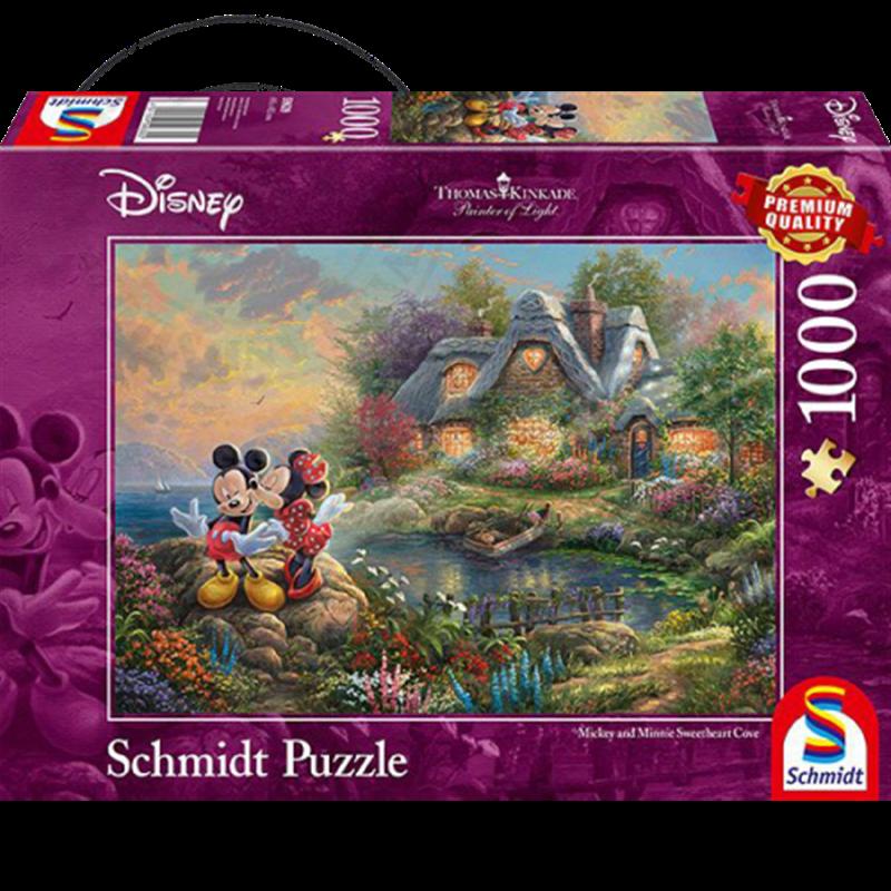 Thomas Kinkade Sweetheart Cove Puzzel - Mickey & Minnie