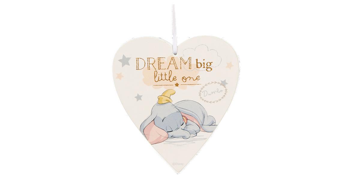 Magical Beginnings Heart Plaque 'Dream Big' - Dumbo