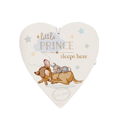 Magical Beginnings Heart Plaque Little Prince - Bambi & Thumper
