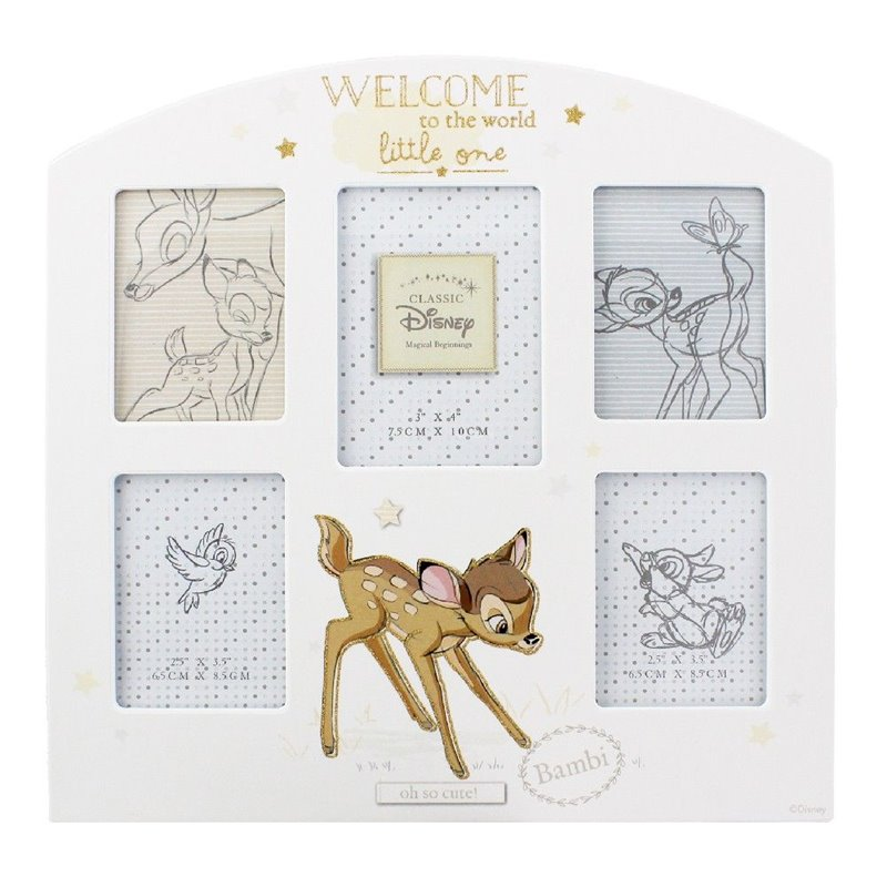Magical Beginnings Arched Collage Frame - Bambi