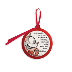LLL Quote Ornament Red - Mickey