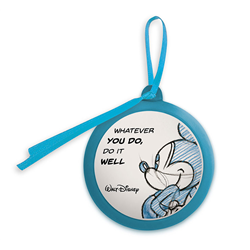 LLL 606 Quote Ornament Blue - Mickey