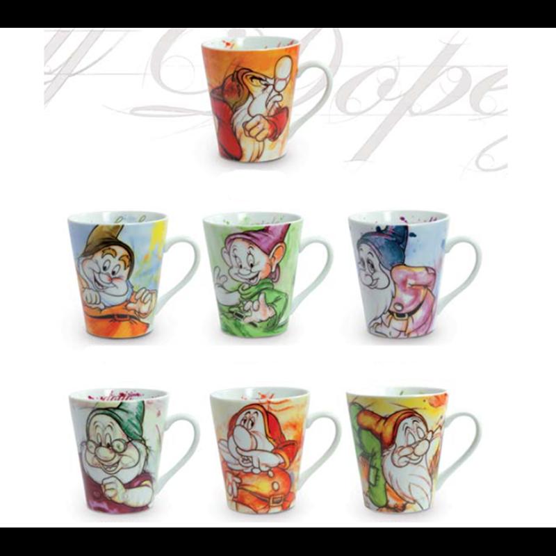 Set of 7 Mugs - 7 Dwarfs