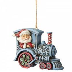 Santa In Train Engine (Hanging Ornament) - 6004311