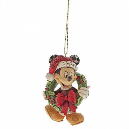 3D Ornament Christmas Wreath - Mickey