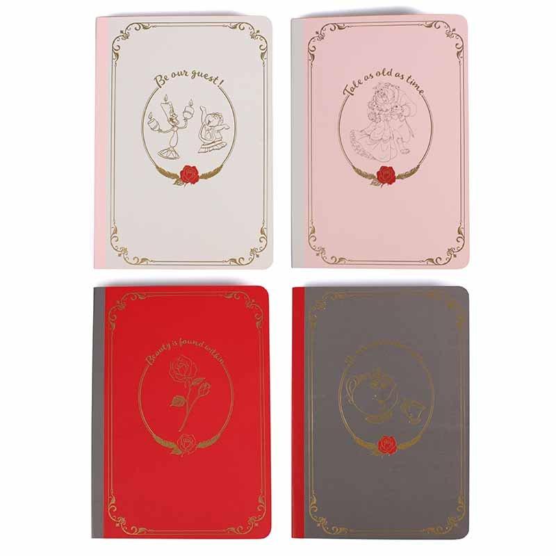 A6 Notebooks set of 4 - Beauty & the Beast