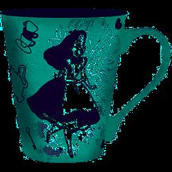 Cone Mug - Alice & Cheshire