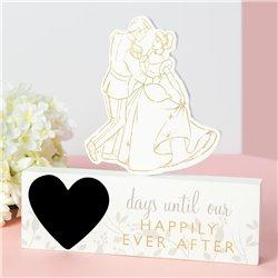 Countdown Plaque - Cinderella & Prince