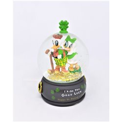 SnowGlobe Mini Good Luck - Donald & Daisy