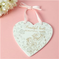 Happily Ever After Plaque Heart - Beauty & the Beast