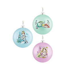 9054 Set of 2 Glass Ornament - Prinsess