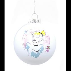 9055 Set of 2 Glass Ornament - Cinderella