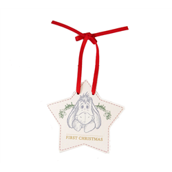 1st Christmas Star Plaque - Eeyore