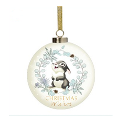 Enchanted Forest Ceramic Bauble -Thumper