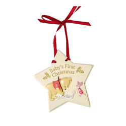 1st Christmas Star Plaque - Pooh