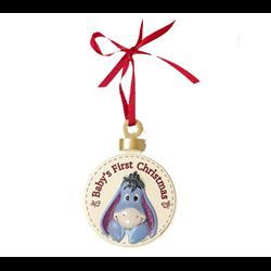 1st Christmas Round Plaque - Eeyore