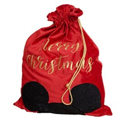 Luxury Red Velvet Disney Christmas Gift Sack - Mickey
