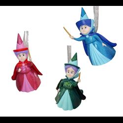 Set of 3 3D Ornamenten - Merryweather, Flora & Fauna