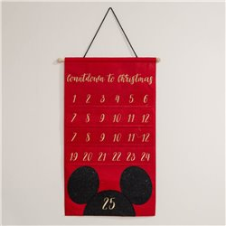 Gold Embroidered Advent Calendar - Mickey
