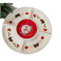 Enchanted Forest Christmas Serving Plate - Bambi