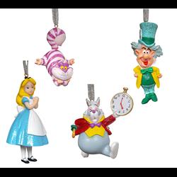 Set of 4 3D Ornamenten - Alice