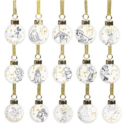 Set of 15 Collectible Ceramic Baubles
