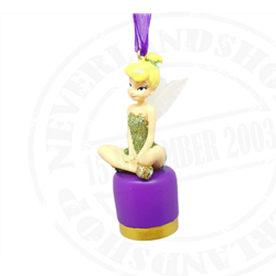 9024 Dangle Ornament Sitting - Tinkerbell