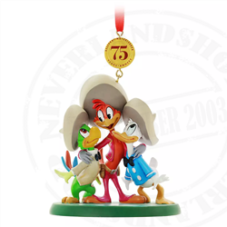 9181 75th Anniversary Sketchbook Ornament - Three Caballeros