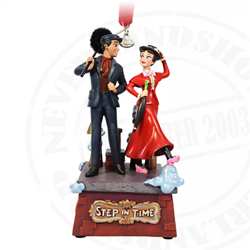 9164 Living Magic Sketchbook Ornament - Mary Poppins & Bert