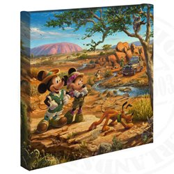 Thomas Kinkade in the Outback - Mickey & Minnie
