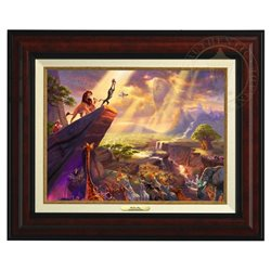 Thomas Kinkade Framed Art on Canvas - Lion King