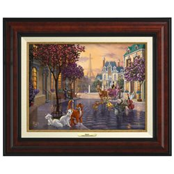 Thomas Kinkade Framed Art on Canvas - Aristocats