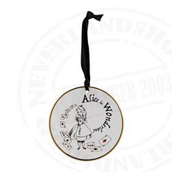 8919 Tea Time Cakeplate Ornament - Alice
