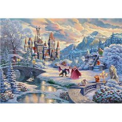 Art Print Winter Enchantment - Beauty and the Beast