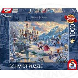 Thomas Kinkade Puzzel Winter - Beauty & the Beast