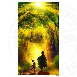 Printed Art - Robin Hood & Little John
