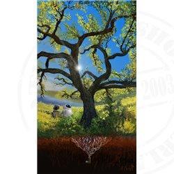 Printed Art Down to Earth - Wall-E & Eve