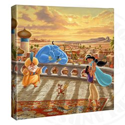 Thomas Kinkade Dancing in the Desert Sunset - Aladdin