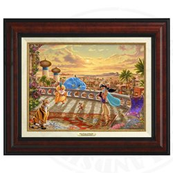 Thomas Kinkade Framed Art on Canvas - Aladdin